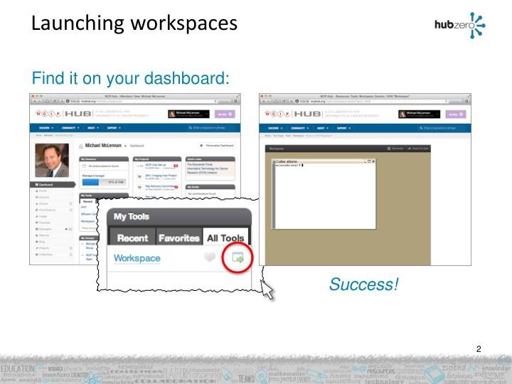 Launching workspaces