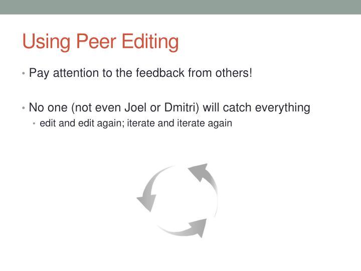Using Peer Editing