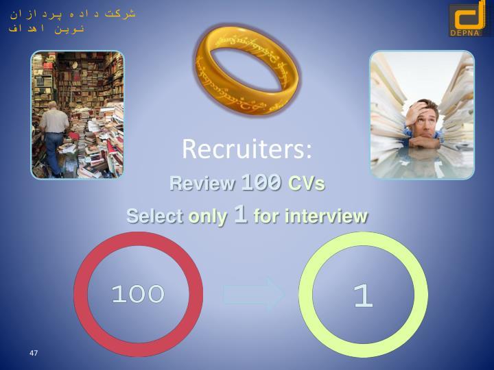 Recruiters: