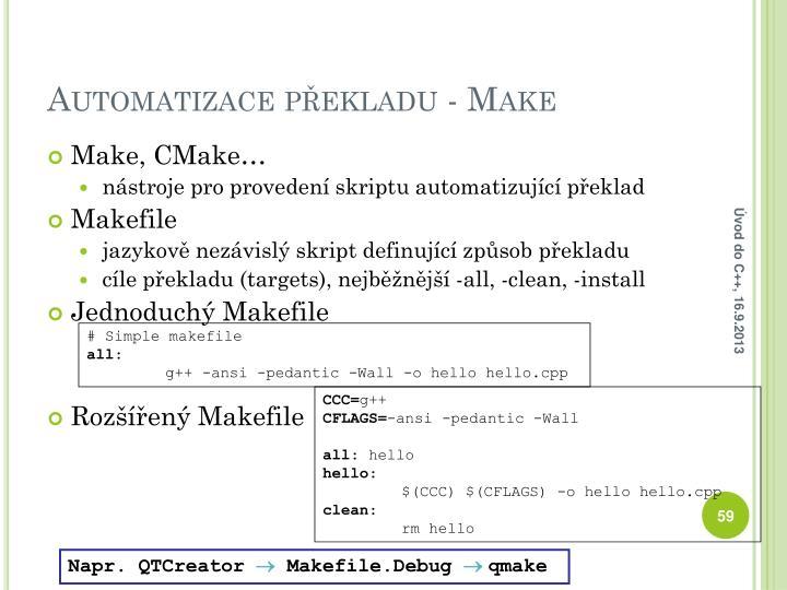 Automatizace překladu - Make