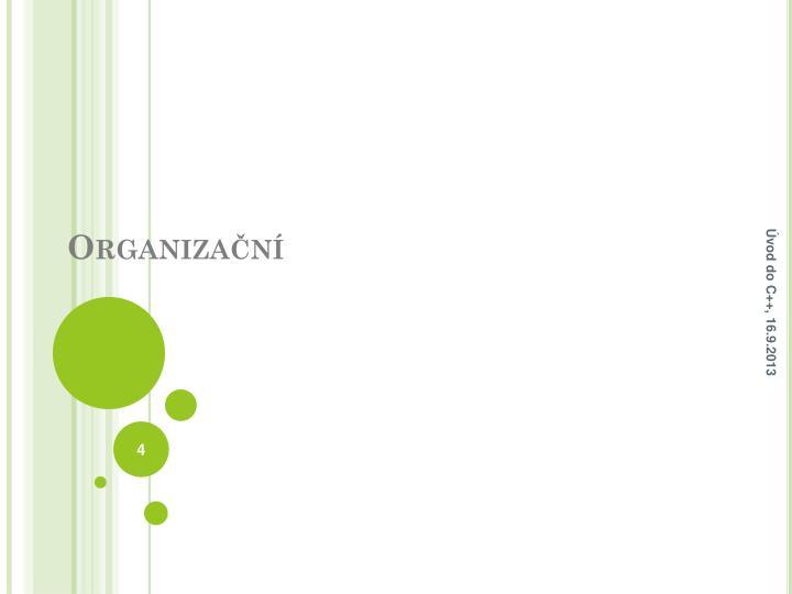 Organizační