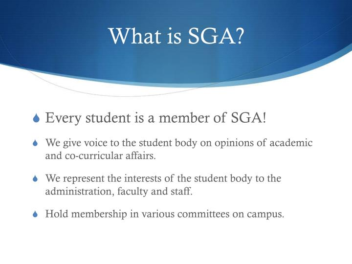 What is sga