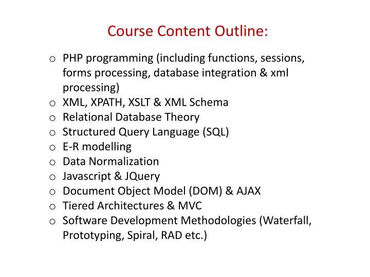 Course Content Outline