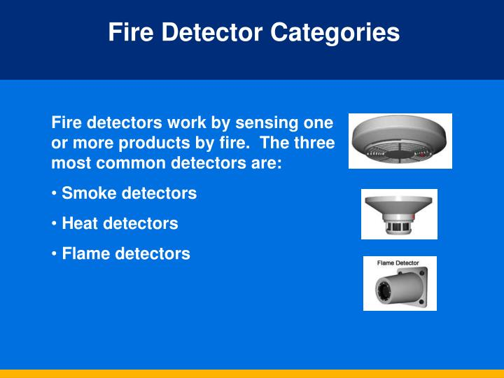 Fire Detector Categories
