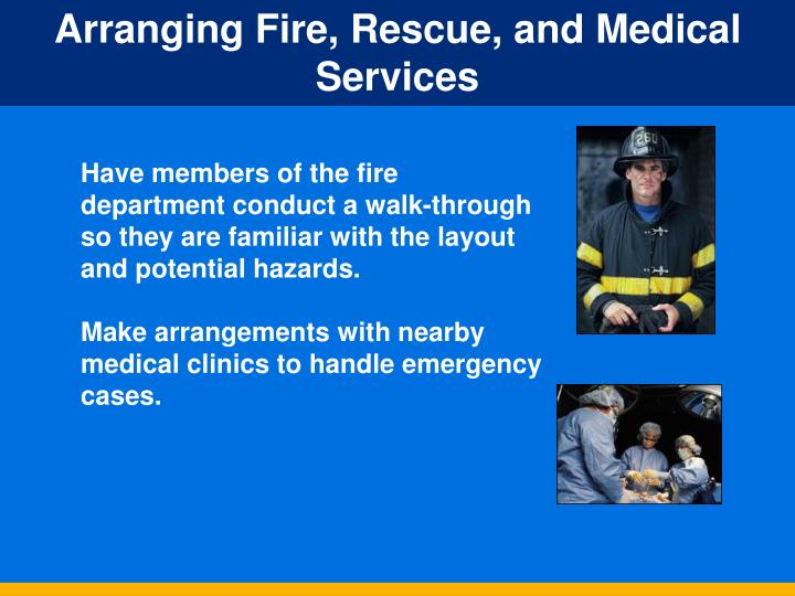 Arranging Fire, Rescue, and Medical Services