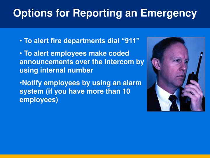 Options for Reporting an Emergency