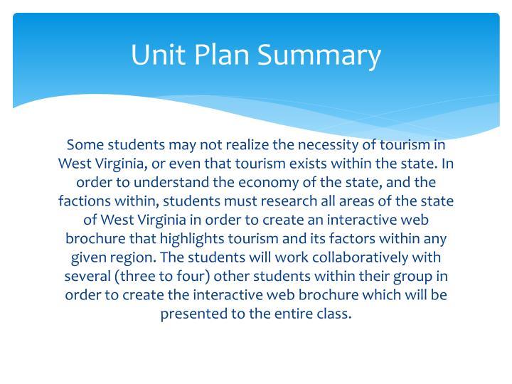 Unit Plan Summary