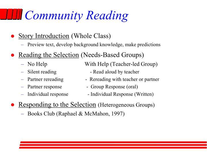 Community Reading