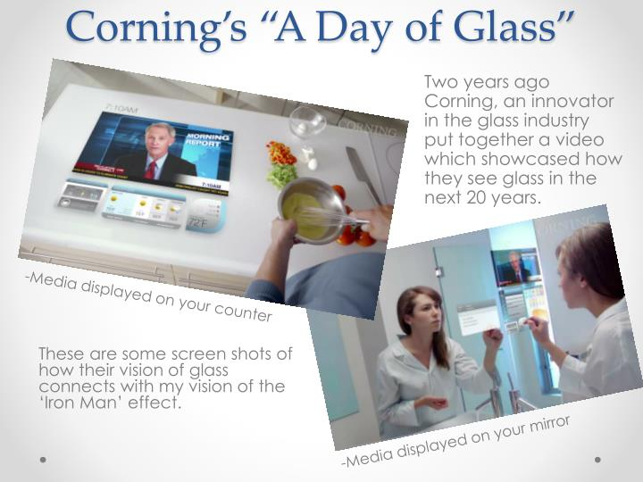 """Corning's """"A Day of Glass"""""""