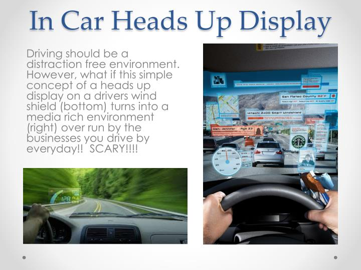 In Car Heads Up Display
