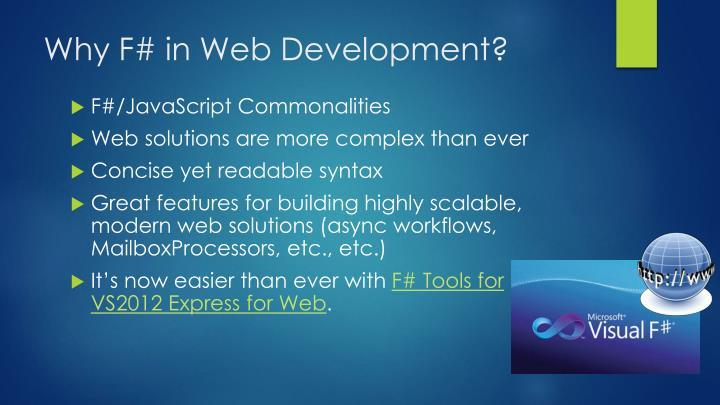 Why F# in Web Development?