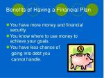 benefits of having a financial plan