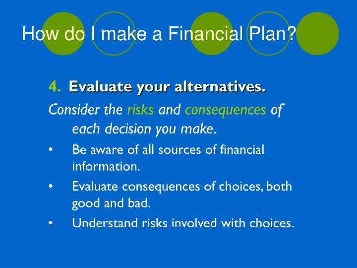 How do I make a Financial Plan?