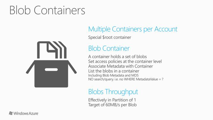 Blob Containers