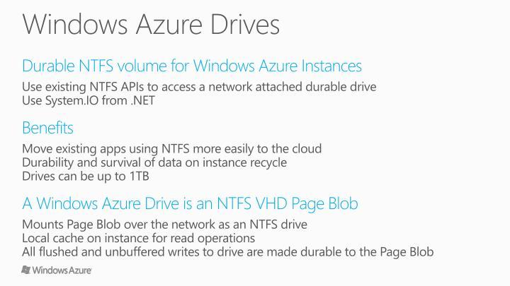 Windows Azure Drives