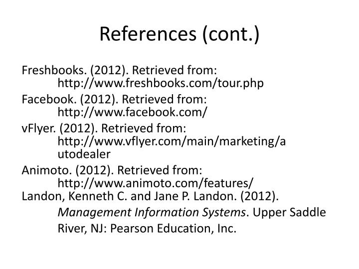 References (cont