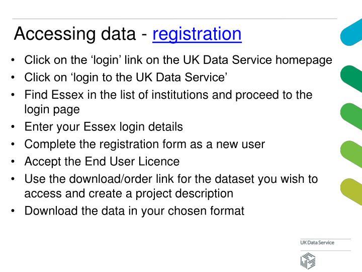 Accessing data -