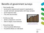 benefits of government surveys
