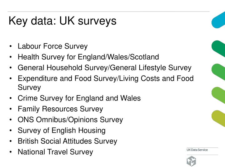 Key data: UK surveys