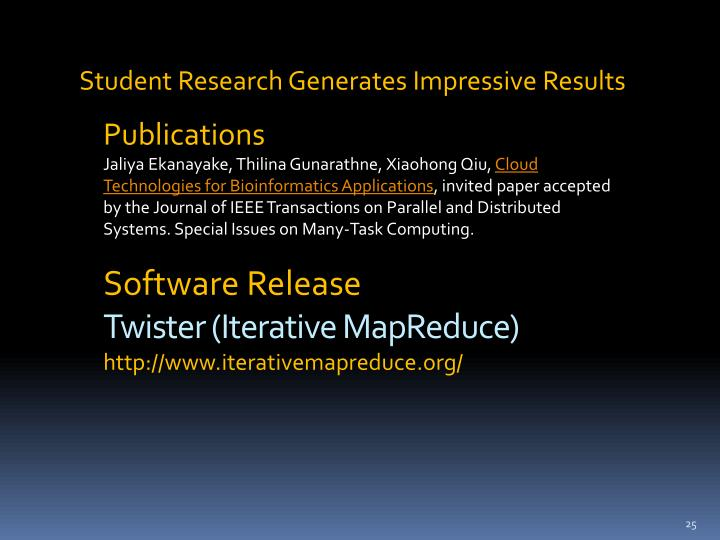 Student Research Generates Impressive Results