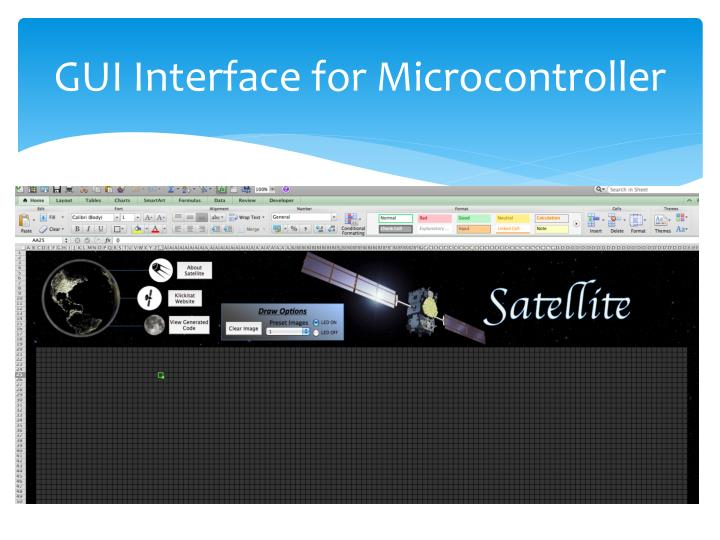 GUI Interface for Microcontroller