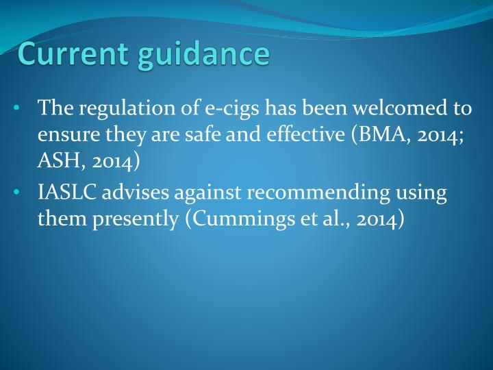 Current guidance