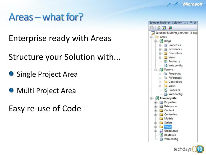 Enterprise ready with Areas