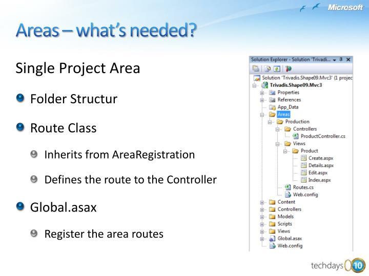 Single Project Area