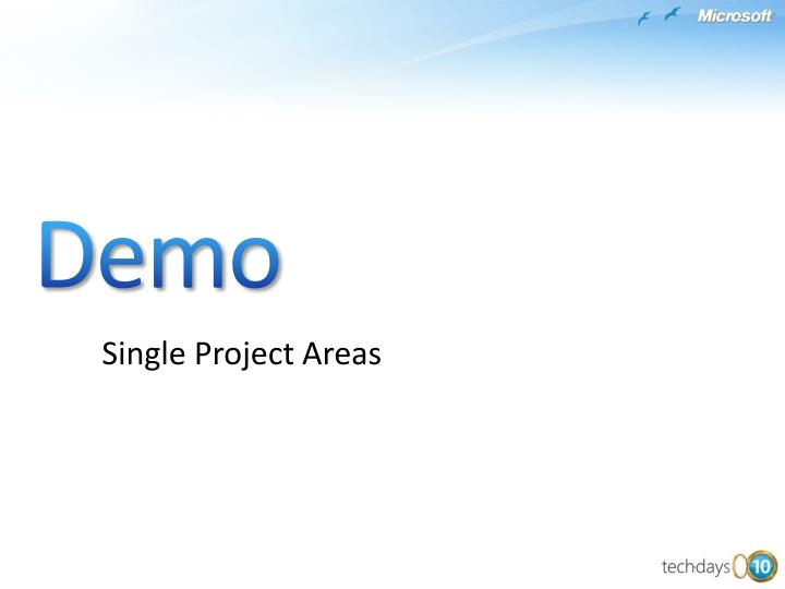 Single Project Areas