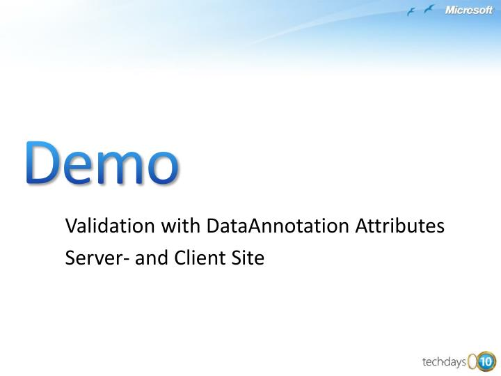 Validation with DataAnnotation Attributes