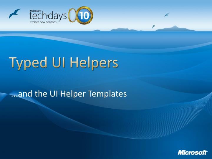 Typed UI Helpers