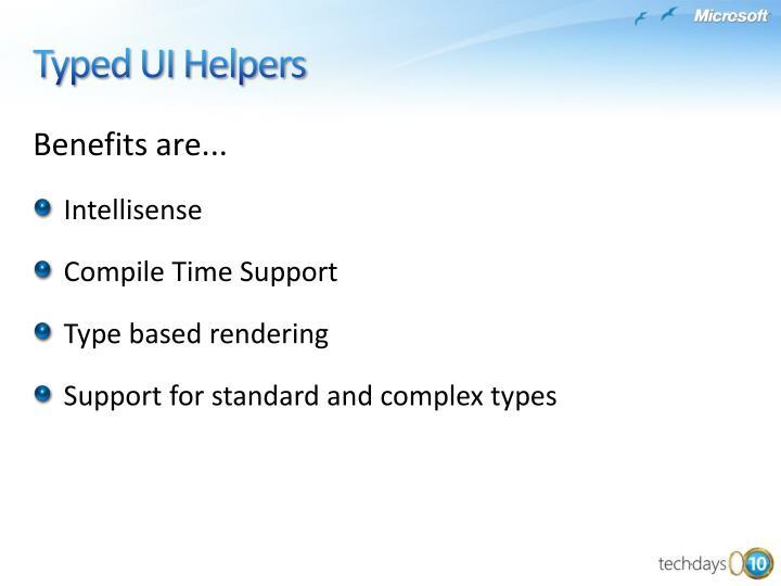 Benefits are...