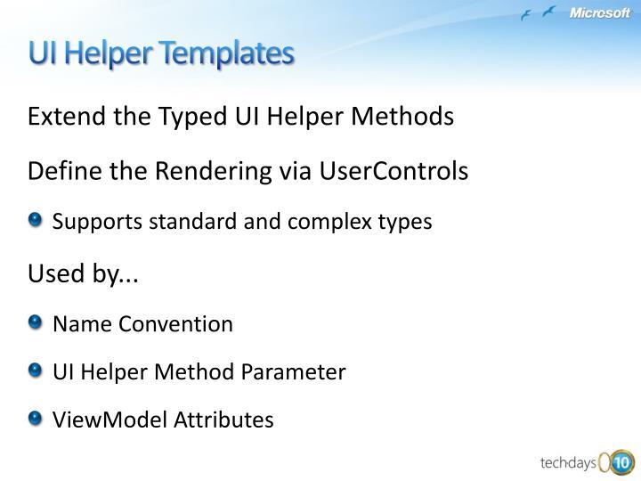 Extend the Typed UI Helper Methods