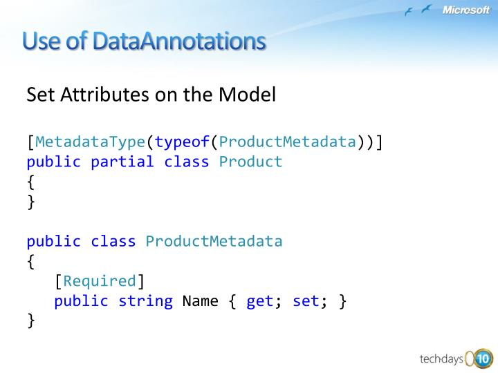 Use of DataAnnotations