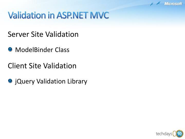 Server Site Validation