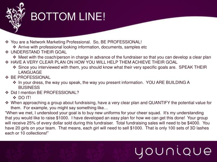 BOTTOM LINE!