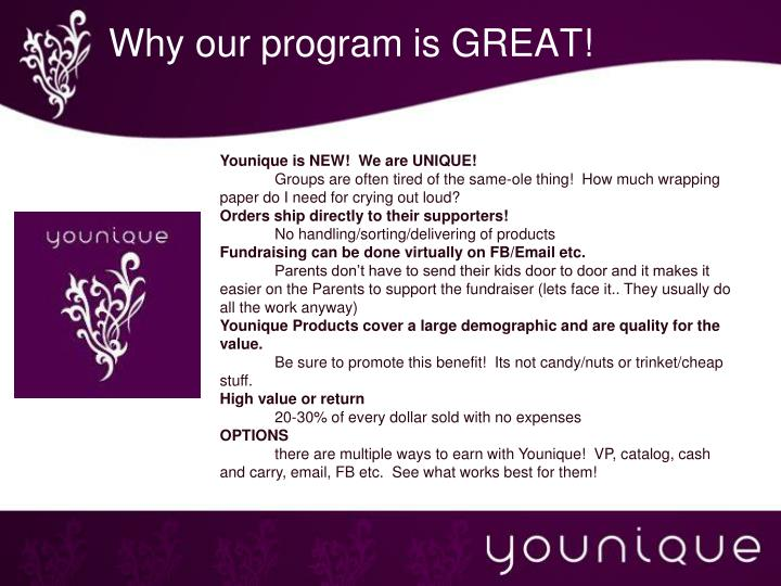 Why our program is GREAT!