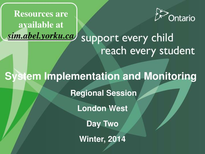 Resources are available at