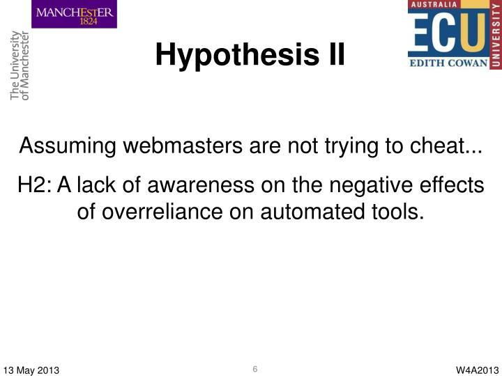 Hypothesis II