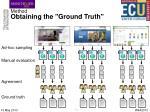 method obtaining the ground truth