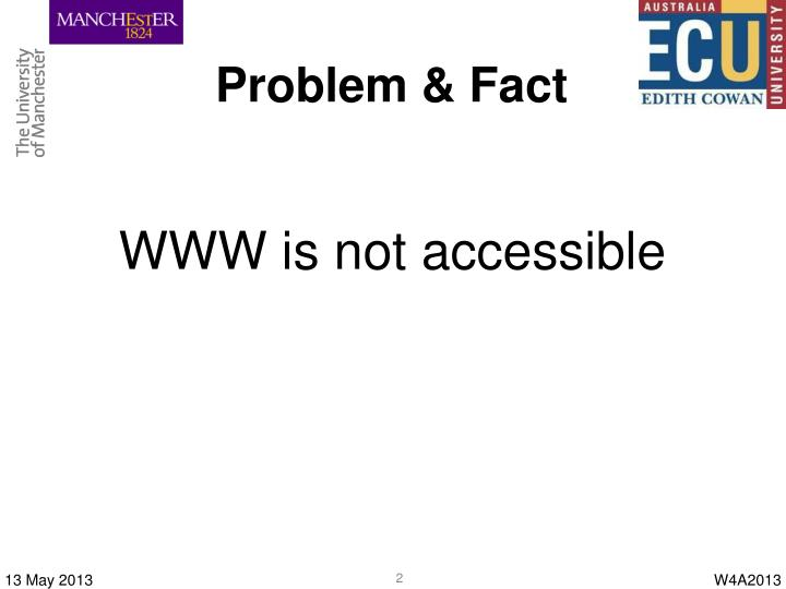 Problem & Fact