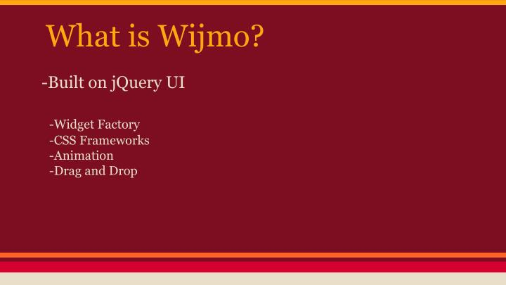 What is Wijmo?