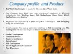 company profile and product