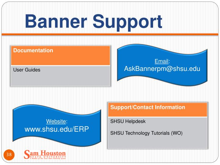 Banner Support