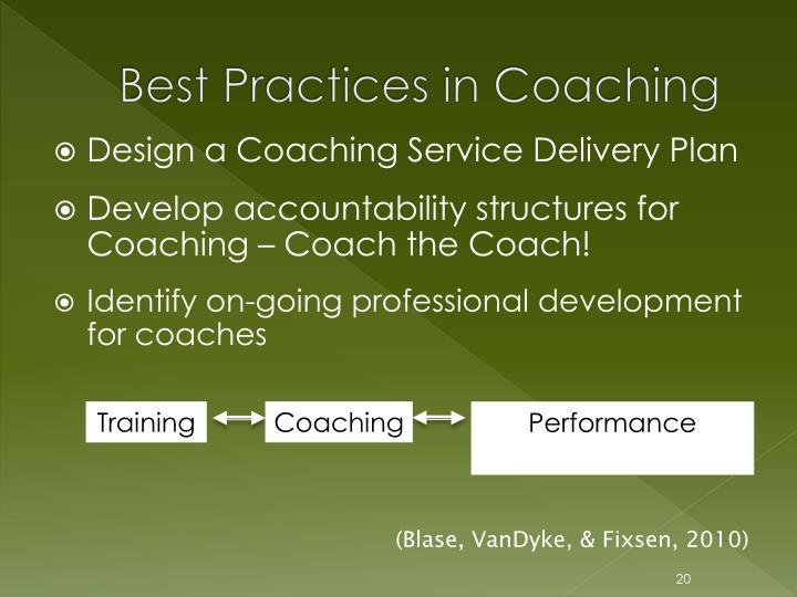Best Practices in Coaching
