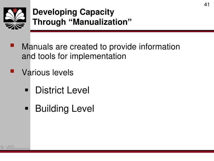 Developing Capacity