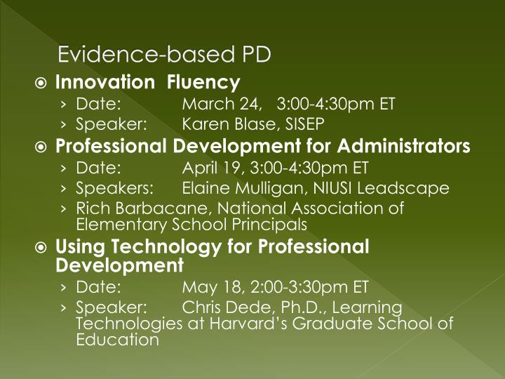 Evidence-based PD