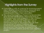 highlights from the survey