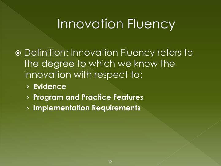 Innovation Fluency