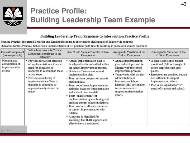 Practice Profile: